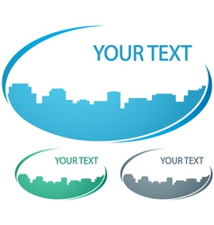 background with city silhouette vector image