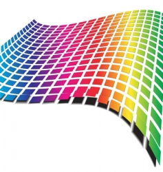 retro wave pattern vector image