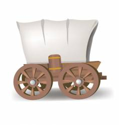 Covered wagon vector