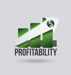 Profit design vector