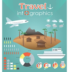 Travel infographics vector image