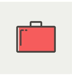 Suitcase thin line icon vector