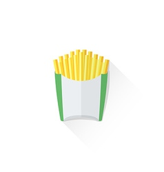 Color french fries icon vector