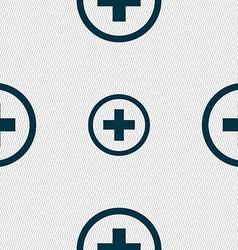 Plus positive zoom icon sign seamless abstract vector