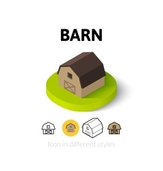 Barn icon in different style vector
