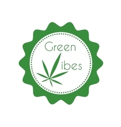 Marijuana badge vector