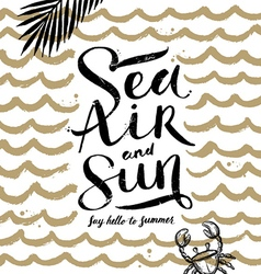Sea air and sun vector