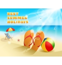 Summer colored composition vector