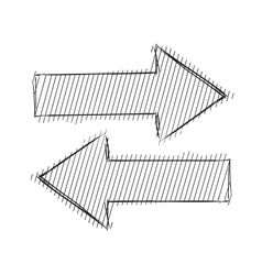 Arrows left right vector image vector image