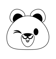 Bear or cub cute animal cartoon icon image vector
