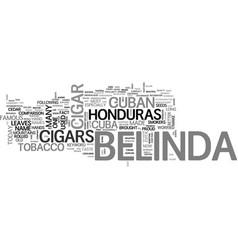 Belinda cigars text word cloud concept vector