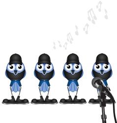 Bird boy band vector