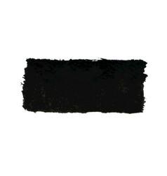 black watercolor smear brush strokes vector image