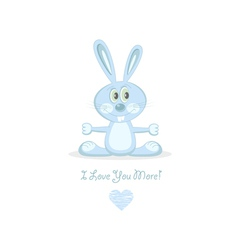 blue love rabbit vector image