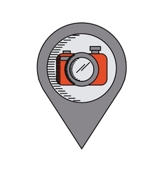 Camera device icon vector