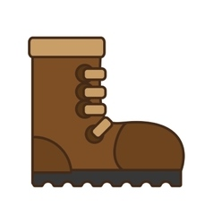 cartoon industrial boot safety worker industrial vector image
