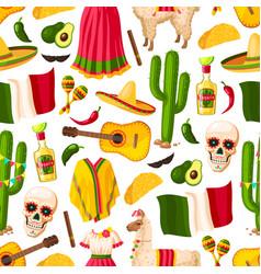 Cinco de mayo mexican holiday seamless pattern vector