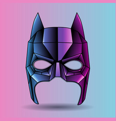 colored mask superhero graphic triangles vector image vector image