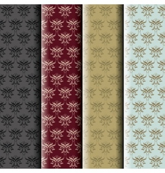 Damask pattern collection vector