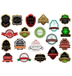 Decorative labels and banners set vector image vector image
