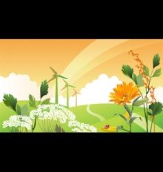 eco landscape vector image vector image