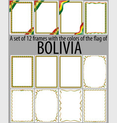 Flag v12 bolivia vector