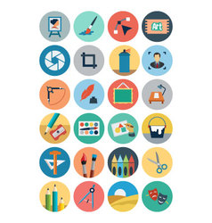 Flat Design Icons 2 vector image vector image
