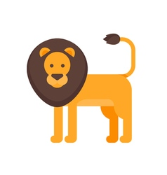 Flat style of lion vector