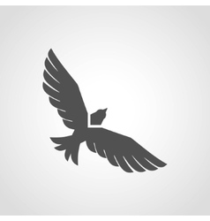 Flying eagle icon vector
