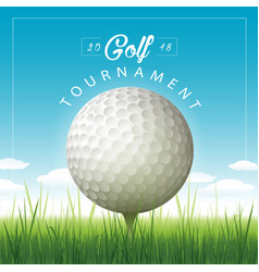 golf tournament background vector image vector image