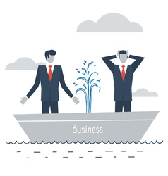 Having difficulties in business vector