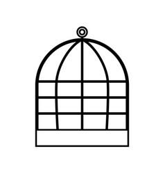 iron cage black color icon vector image vector image