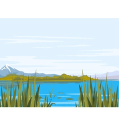 Lake Landscape vector image vector image