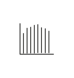 line stats icon vector image vector image