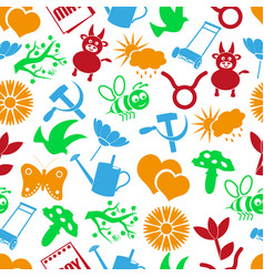 may month theme set of simple icons seamless vector image vector image