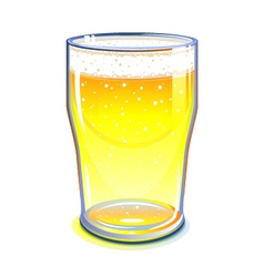 Pint glass vector image vector image