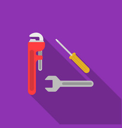 plumbing tooles icon in flat style isolated on vector image