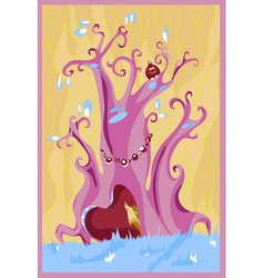purple fairy tree vector image