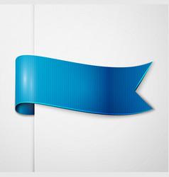 realistic shiny blue ribbon isolated vector image