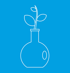 Seedling in a vase icon outline style vector