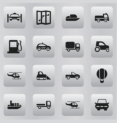 Set of 16 editable shipment icons includes vector
