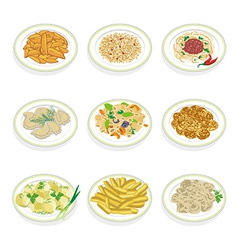 Set of food vector image