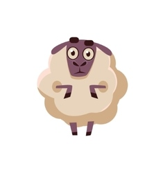 Sheep Standing Stunned vector image