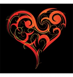 tribal heart vector image
