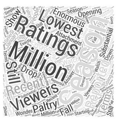 Why american idols ratings are plunging word cloud vector