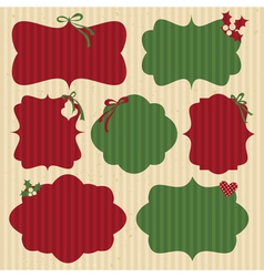 Christmas Cardboard Labels vector image