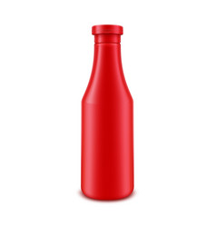 Tomato ketchup bottle for branding without label vector