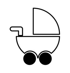 Baby cart isolated icon vector
