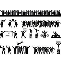 Party people silhouettes vector image