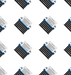 background for office equipment Typewriter vector image
